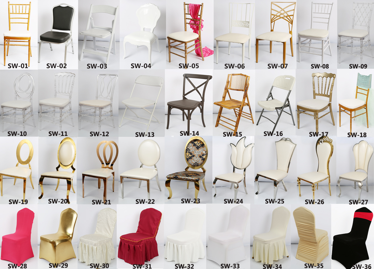 Plastic Clear Guangzhou Knocked Down Types Of Wedding Chairs