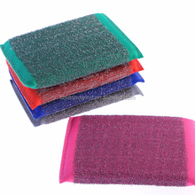 Stainless dish scouring pad