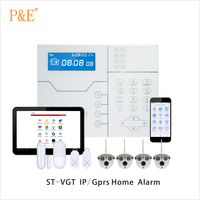 ST-VGT LCD Display TCP/IP GSM/Gprs With IP Camera Home Security Alarm System