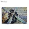 Russian wood design painting airplane metal iron cion art cessna rc plane craft gift set