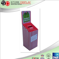 Low price reusable corrugated cardboard mail box display