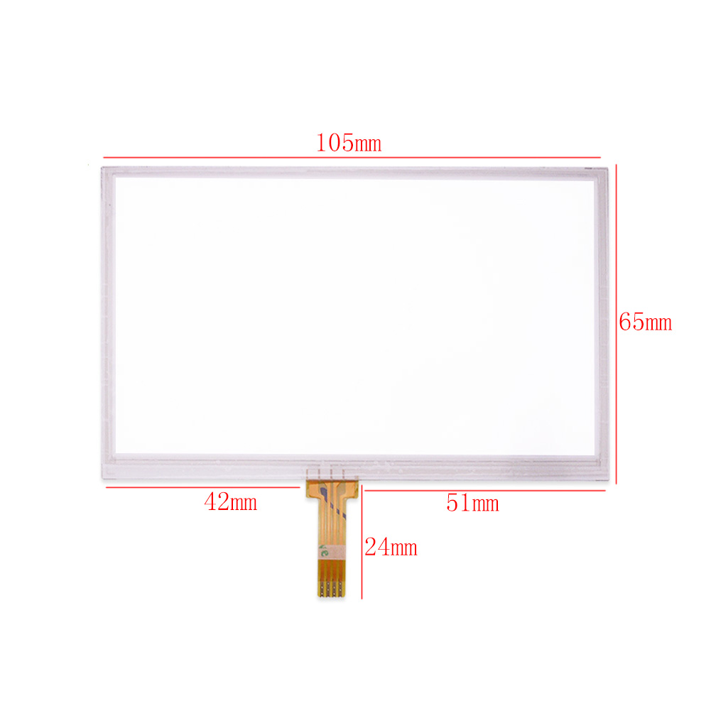 4.3/'/' Touch Screen Digitizer Resistance Panel For GPS Navigation 105mm*65mm /&