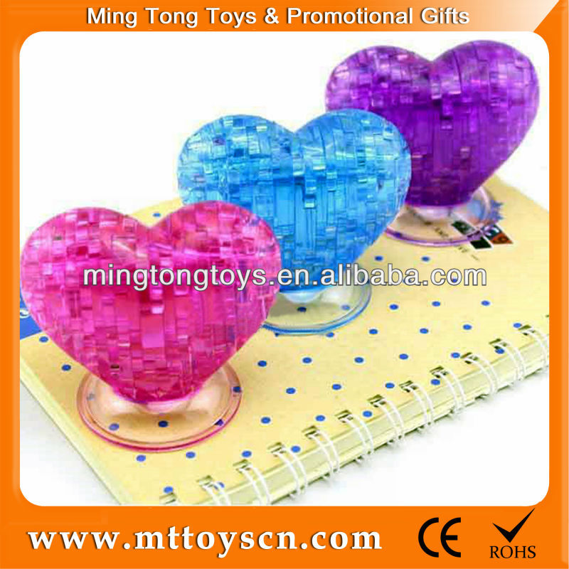 46PCS 3d Crystal Heart Puzzle