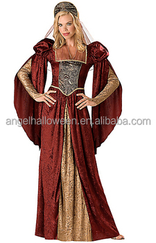 1b2275964a45 Adult renaissance maiden dress elegant medieval fancydress costumes AGC2645