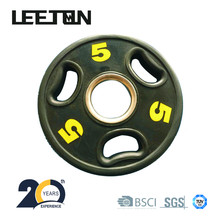 wholesale competition bumper weight plate / three-hole barbell plate/three-hole cast iron weight plate