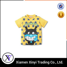 Hot custom popular stylish eco-friendly children cartoon t-shirts