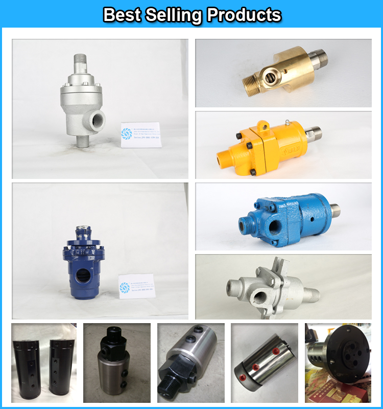 Large size hot oil and steam rotary union rotary hydraulic swivel joint for machine