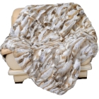 CX-D-11B Normal Pelt High Quality Plate Rabbit Fur Blanket