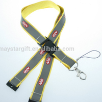 High quality grey reflective lanyard for safety