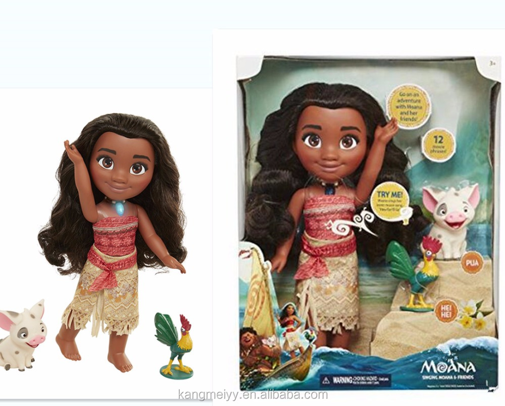 "2017 Hot figure Adventure Doll with Friends 14"" Moana doll with Muisc"