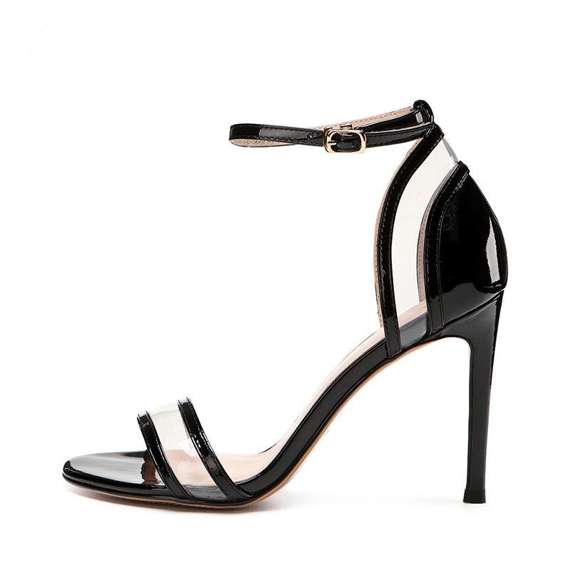 9c2654a9deff 2018 beautiful sexy Customized New Stylish Lady Sandals Sexy Fashion High  Heel Stiletto PU Ankle heels