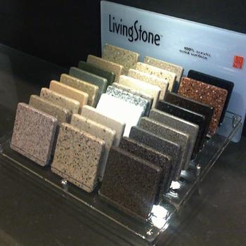 Acrylic Material Stone Samples Display Racks