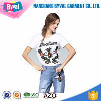 Wholesale Fashion National Style custom printing t shirt embroidery machine 100% Cotton t shirt For Women