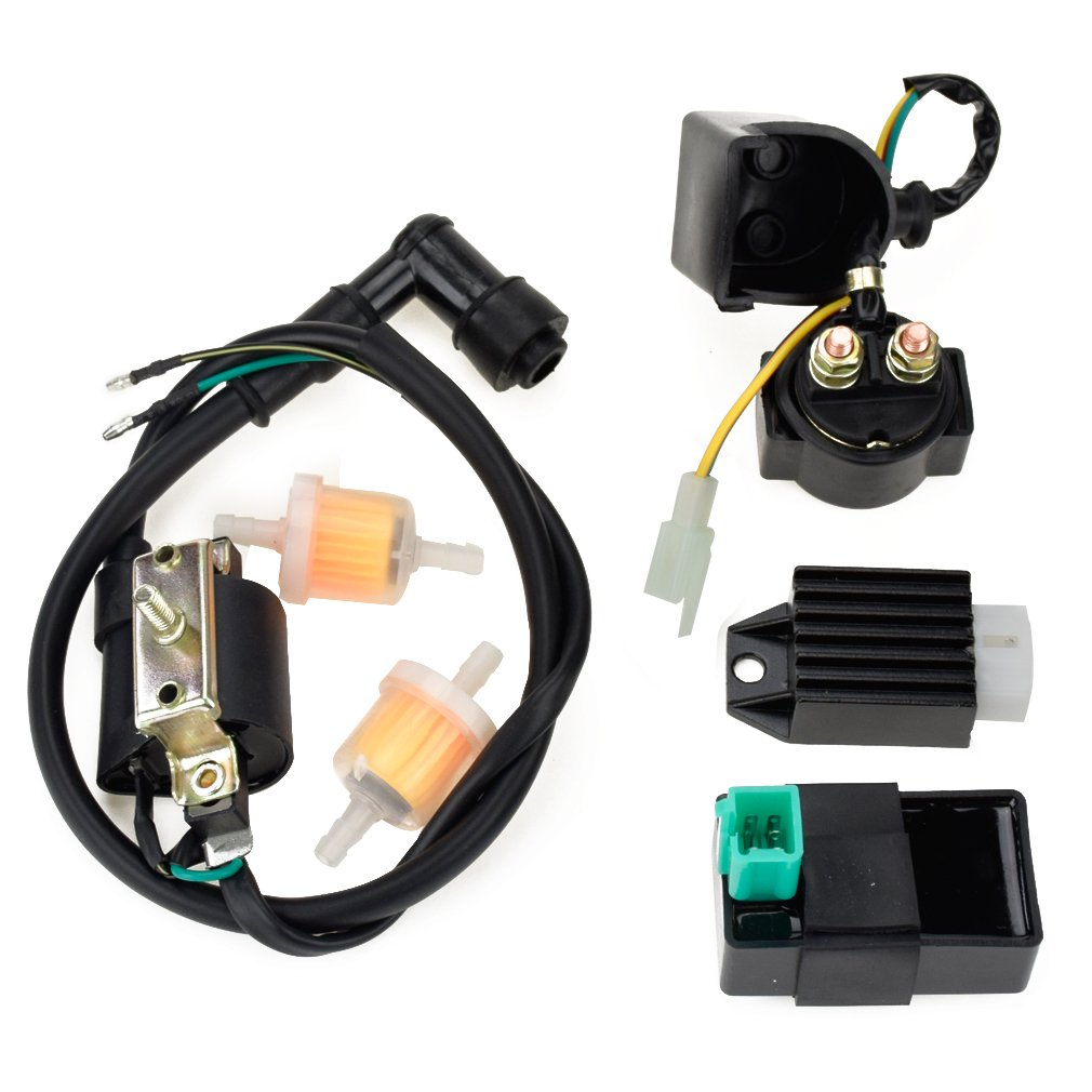 Cheap Falcon 90 Atv Find Deals On Line At Alibabacom Meerkat 50cc Starter Wiring Get Quotations Hiaors Ignition Coil 5 Pin Cdi Regulator Rectifier Relay Fuel Filter For Kazuma