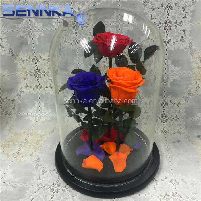 Beauty And The Beast Preserved Rose In Gl Flower Product On Alibaba