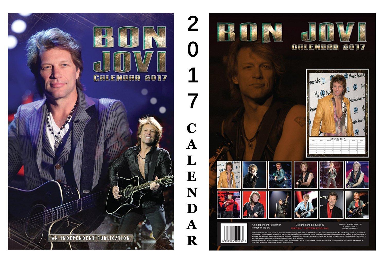 Bon Jovi 2017 Calendar + Bon Jovi Fridge Magnet