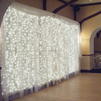 3M x 3M 300 LED Outdoor Home Warm White Christmas Decorative xmas String Fairy Curtain Garlands Party Lights For Wedding