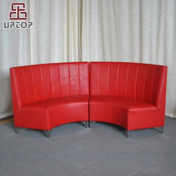 Divano Moderno A Semicerchio.Sp Ks321 Componibile Moderno Semicerchio Di Cuoio Rosso Rotondo