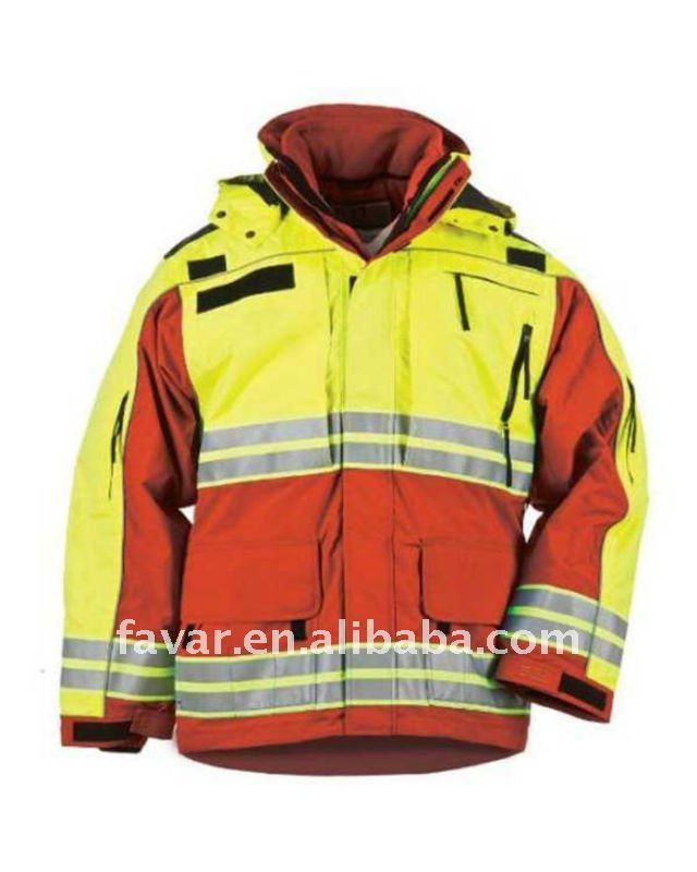 3M Hi-Vis Parka for Men Winter Cotton Quilted Jacket