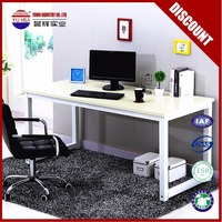 Classic White Metal table Steel PC Desks executive office desk Corner Study Desk in discount