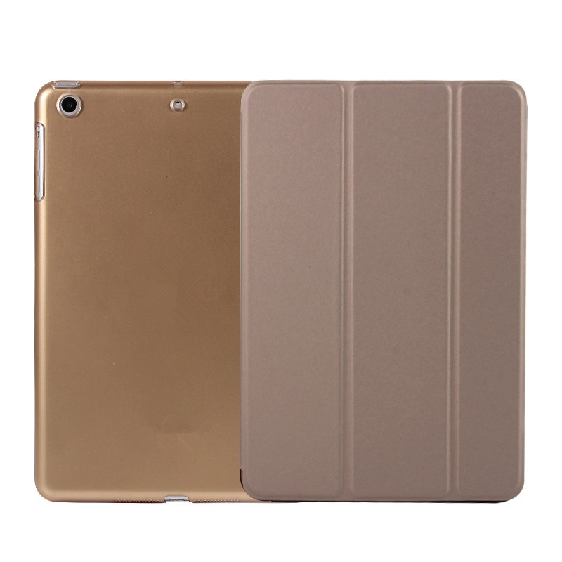 3 Folder Stand PU Case PC Back Cover Smart Leather Case For iPad mini 2 mini 3