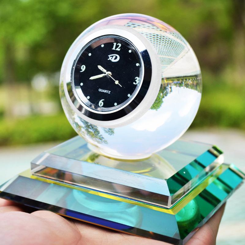 Custom Crystal glass perfume bottle clock style perfume bottle wedding gifts  crystal perfume bottles craft gifts