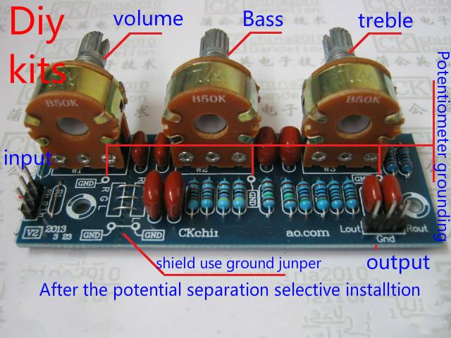 91c029e06f5 Amplifier Passive Bass Treble Tone Board Volume Control Pre-amplifier Board  Kits