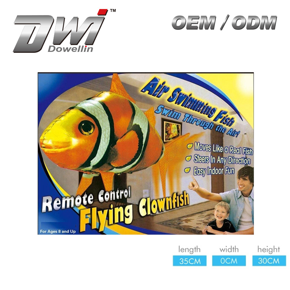DWI Dowellin Inflatable Flying Fish Remote Cotrol Flying Fish Ballon Price Gifts for kids