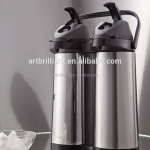 stainless steel 3.8L double thermo air pots / air pressure coffee pot / metal thermos flask