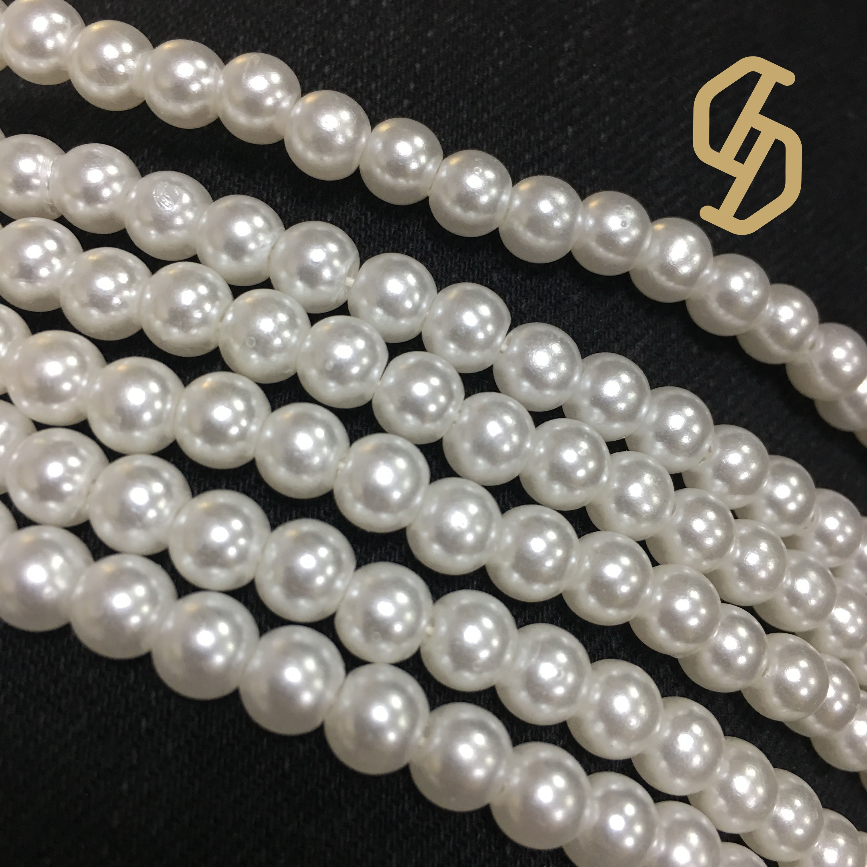 3-8mm Silver Gold Half Pearl Flatback Decor Scrapbook Bead DIY Craft