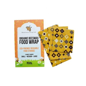 Amazon's Hot Sellers Organic Natural Beeswax Made Food Mat Cotton Cloth Reusable Food Beeswax Wraps