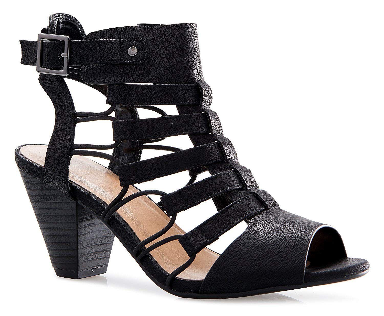 597bcb530 Get Quotations · OLIVIA K Women's Strappy Cord Wedge Sandals - Sexy Open  Toe Heel - Comfort, Fasionable
