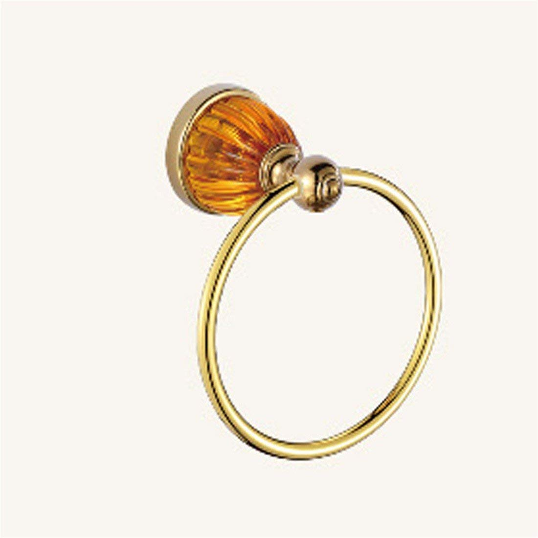 LAONA European style gold zinc alloy amber base bathroom fittings towel ring single and double rod,Towel ring
