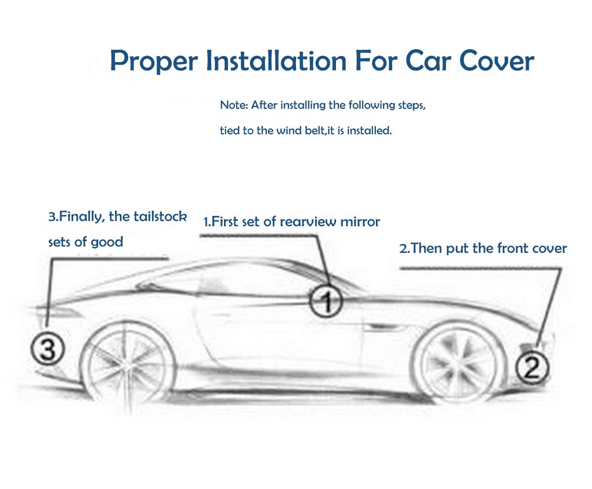 Krasbestendig waterdichte auto cover Outdoor peva gewatteerde Auto Cover