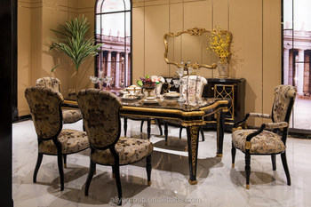 tn-025-black dining room set royal design dining table sets