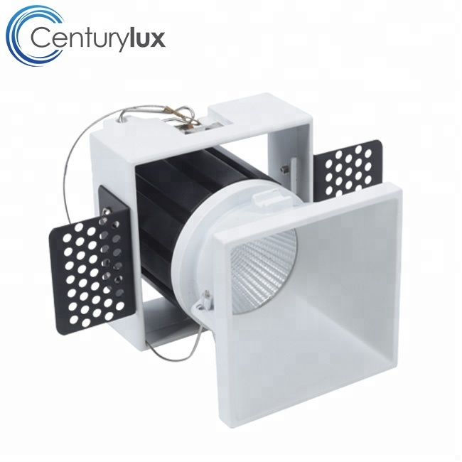 Dimmable Anti glare Square Round Ceiling recessed COB Trimless Led <strong>Downlight</strong>