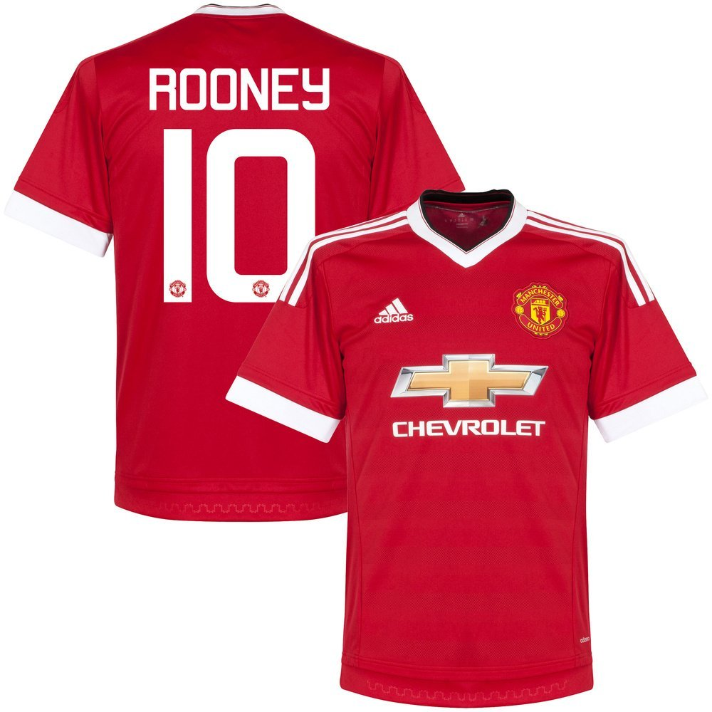 392e4ca144d Get Quotations · Manchester United Home Authentic Rooney Jersey 2015 / 2016  (Cup Style Printing)