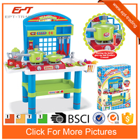 Modern kids cooking set musical kitchen set toy for preschool
