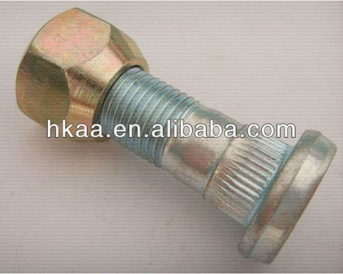 CNC High Strength Zinc Plated Wheel Bolts and Nuts For Tractor,Wheel Bolt and Nut For Car,Hub Bolt and Nut