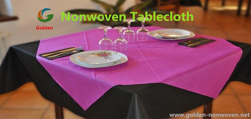 Tnt Non Woven Fabric For Table Cloth/pp Non Woven Fabric Rolls/ Non Slip  Tablecloth Roll Disposable Nonwoven Table Cover