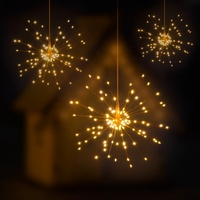 custom made Battery Operated lights Firework fairy starburst Holiday LED lights