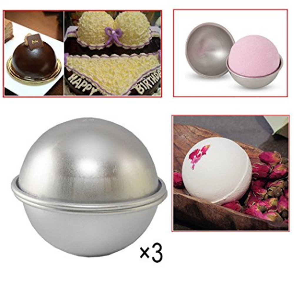 China supplier nice products custom DIY 46mm 55mm 65mm Aluminum alloy bath bomb mold 1.77in 2.16in 2.55in