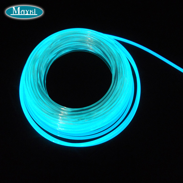 Color Changing 8 0mm Side Glowing Fiber Optic Rope Light For Swimming Pool Lighting Led