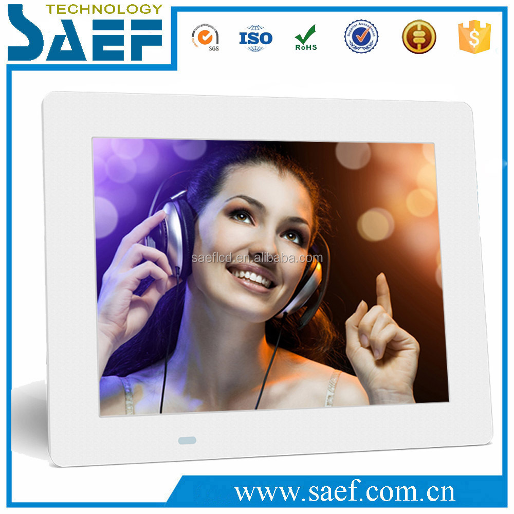 8 inch ultra-thin digital photo frame video playback for supermarket advertising