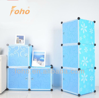3 cubes eco-friendly plasti cube storage organizer with PP panel and connector FH-AL0014-3