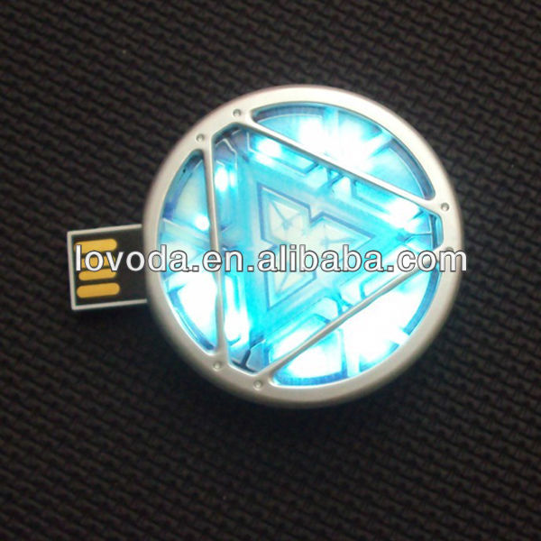 Arc Reactor 1tb Usb Flash Drive With Led Flash Light / Avengers ...
