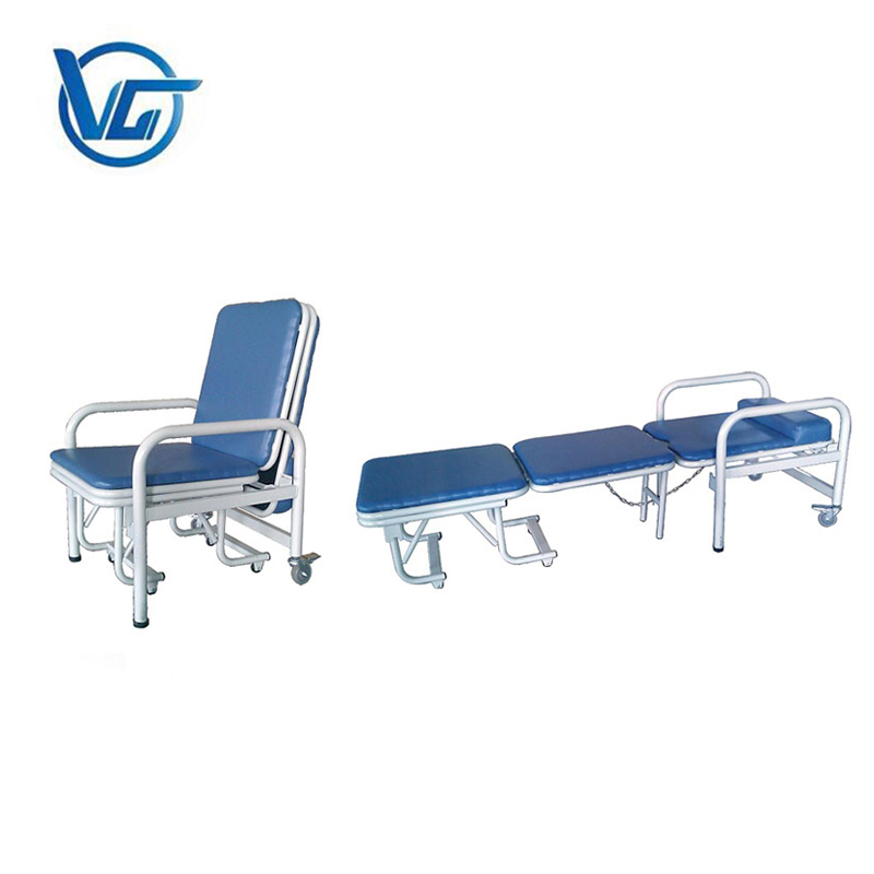 Convertible hospital chair bed/medical reclining chair