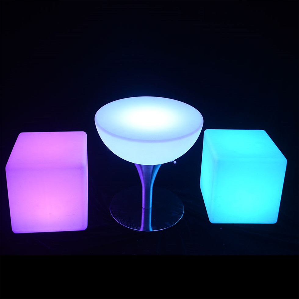 rechargeable outdoor garden plastic furniture led lighted bar <strong>table</strong>