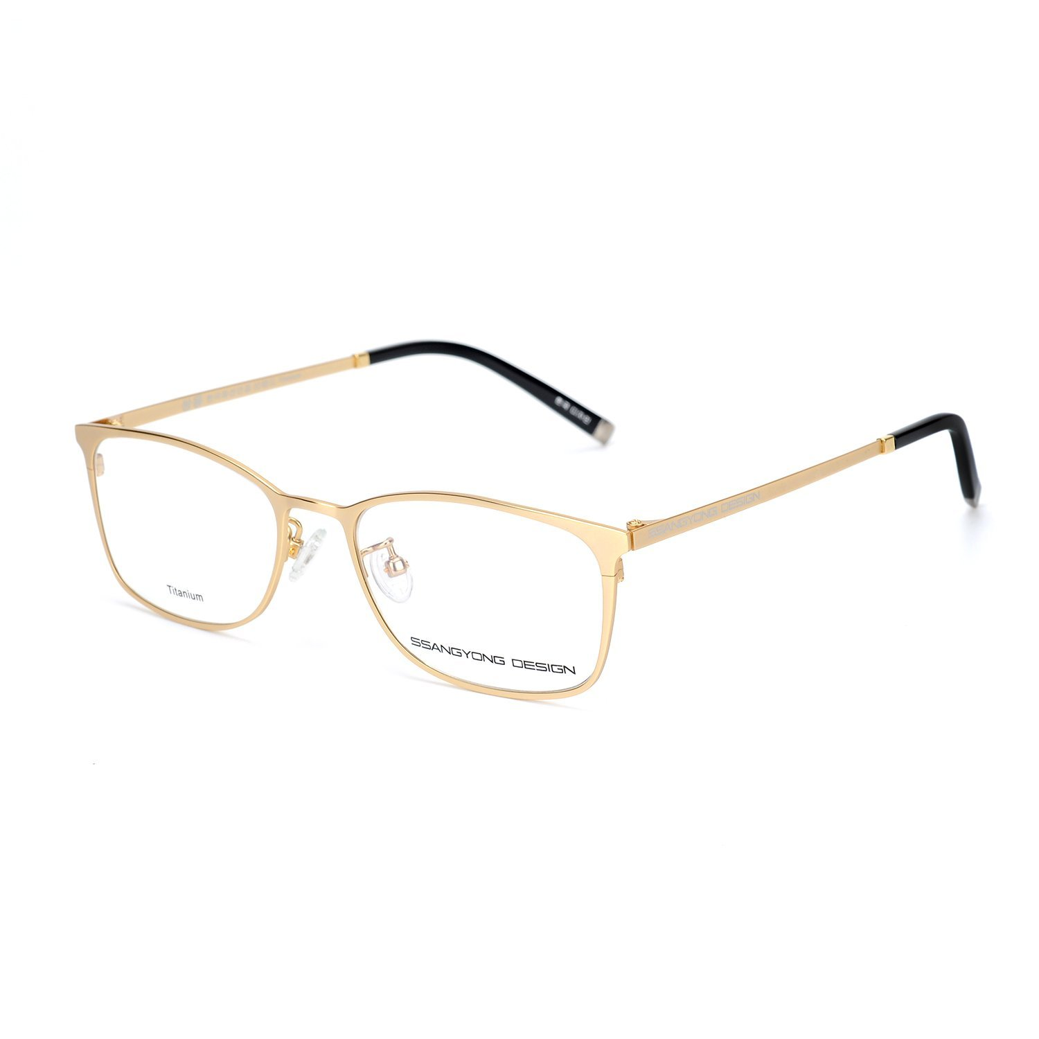 ea110763351 Get Quotations · Eileen Elisa Oval Fashion Titanium Glasses Frame with  Clear Lens Optical Eyeglasses