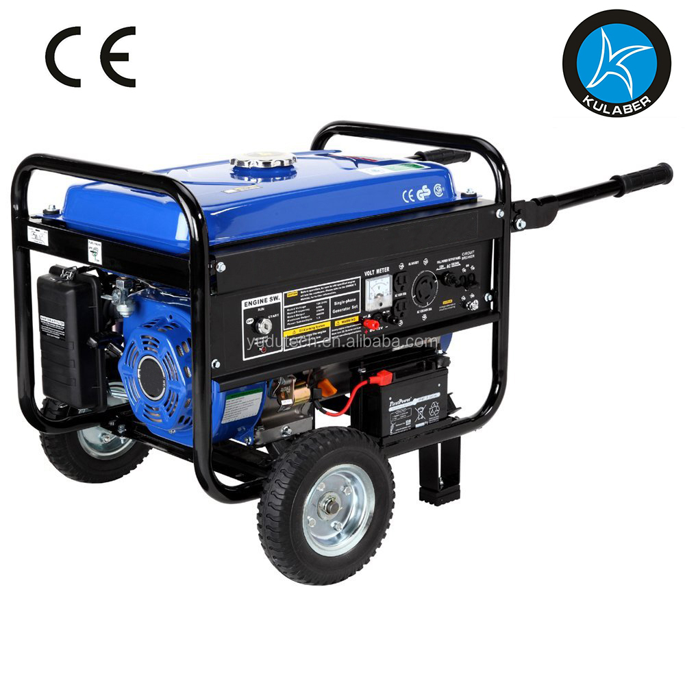 4,400 Watt 7.0 HP OHV 4-Cycle Gas Powered Portable Generator With Wheel Kit And Electric Start